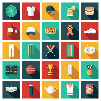 Cricket Sport Icon Set