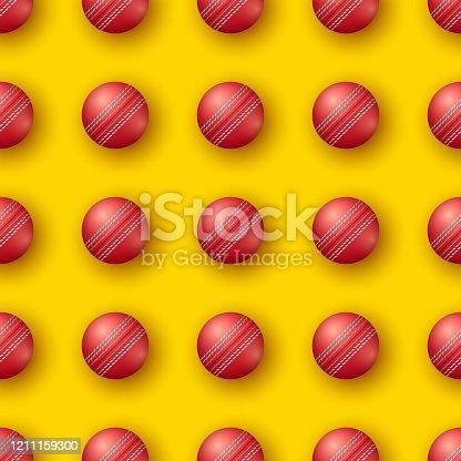 Cricket sport seamless pattern.