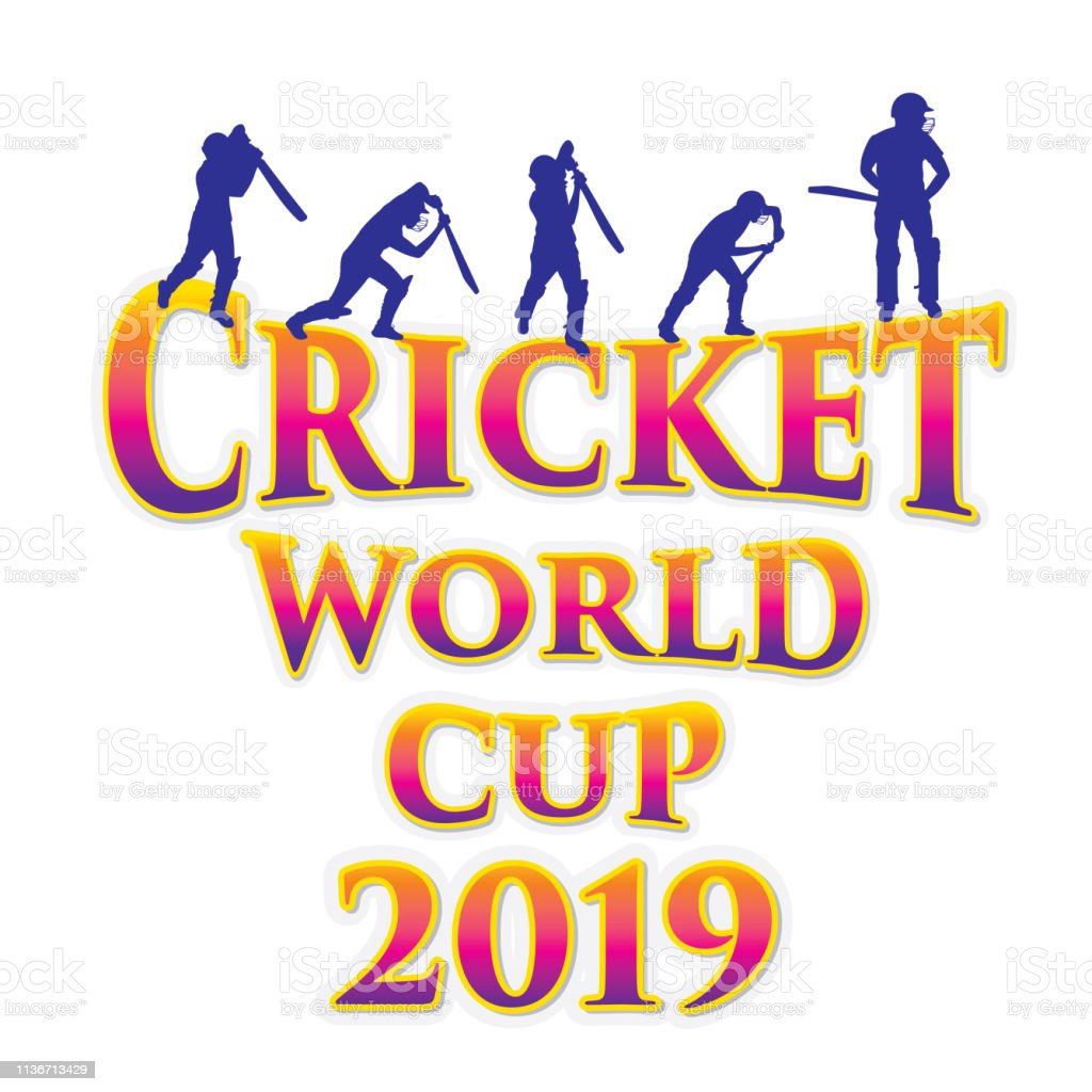 Cricket Sport World Cup Poster Design Stock Illustration - Download