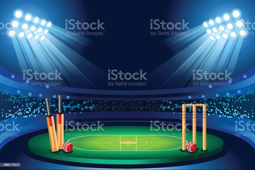 Fond de vecteur cricket stadium - Illustration vectorielle