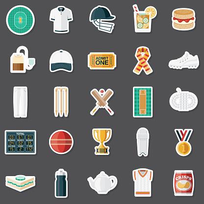 Cricket Sticker Set