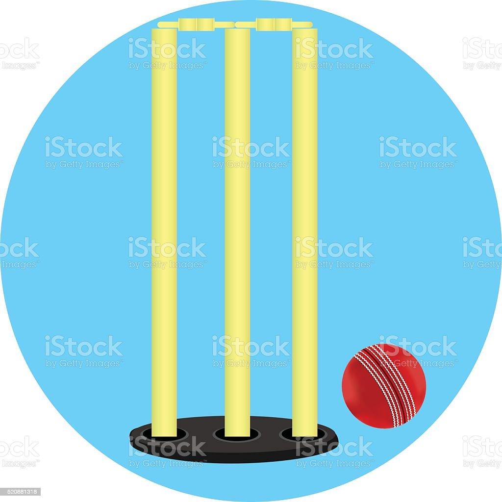 Cricket Stump And Ball
