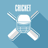 Cricket text with cricket objects.
