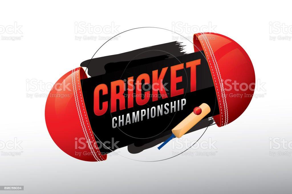 Críquet - ilustración de arte vectorial