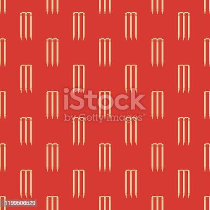 istock Cricket Wicket Pattern 1199506529
