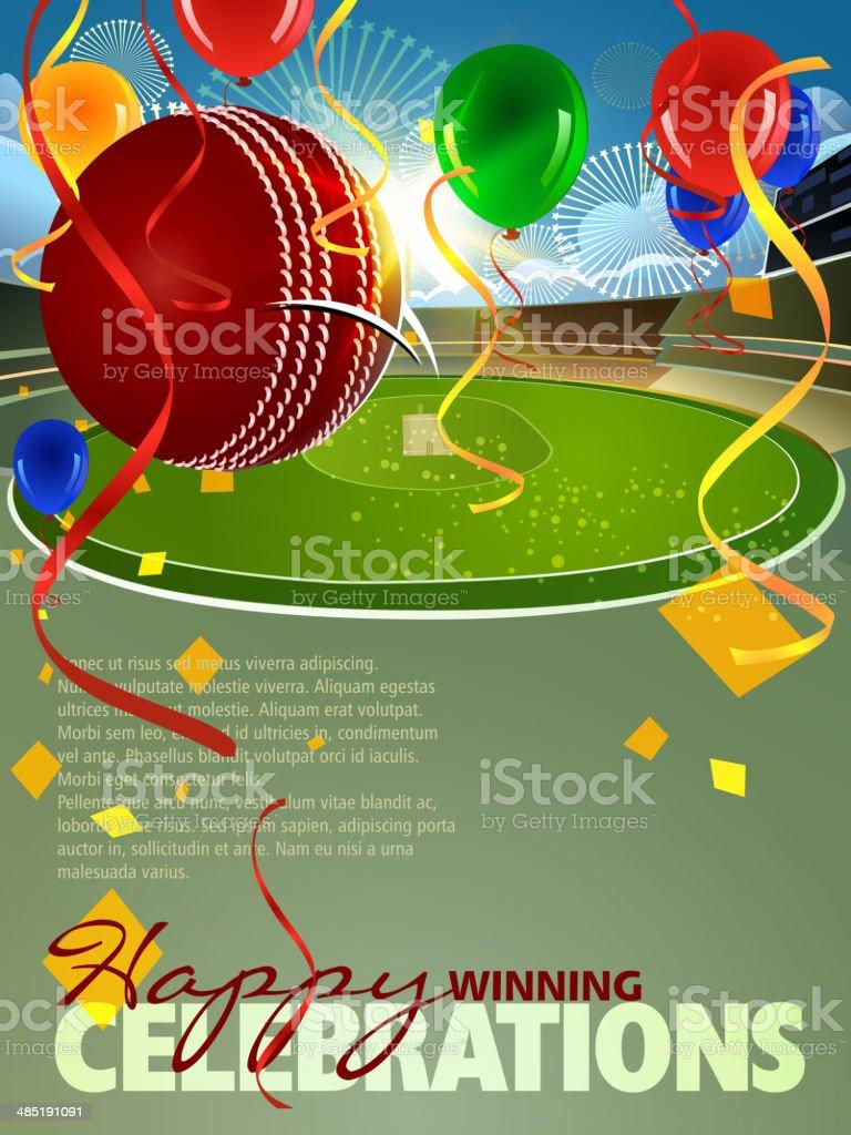 Cricket - Winning shot Celebration Background