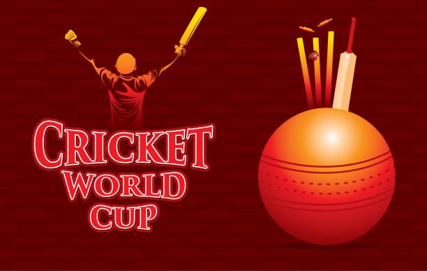 cricket-weltcup-plakatdesign - cricket stock-grafiken, -clipart, -cartoons und -symbole