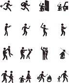 Crime activities icons - Illustration
