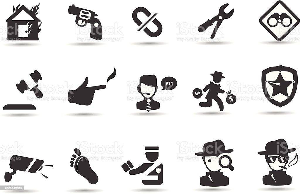 Crime and Justice Symbols royalty-free crime and justice symbols stock vector art & more images of accidents and disasters