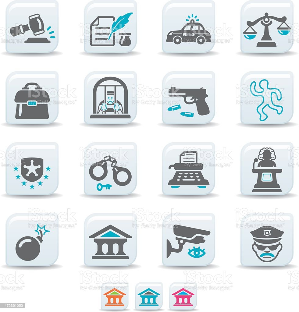 crime and law icons | simicoso collection royalty-free stock vector art