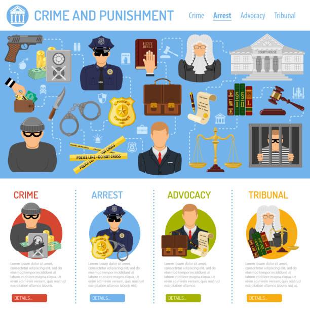 verbrechen und bestrafung konzept - geldstrafe stock-grafiken, -clipart, -cartoons und -symbole