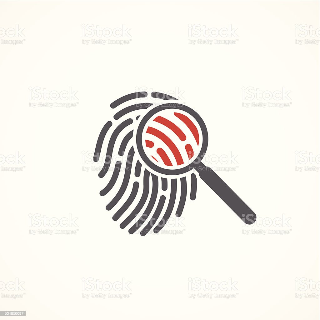 Crime icon vector art illustration
