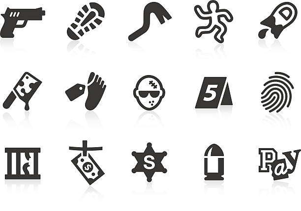 crime icons - autopsy stock illustrations, clip art, cartoons, & icons