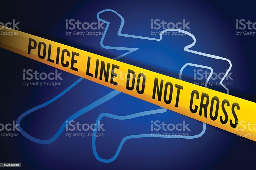 Crime Investigation vector art illustration