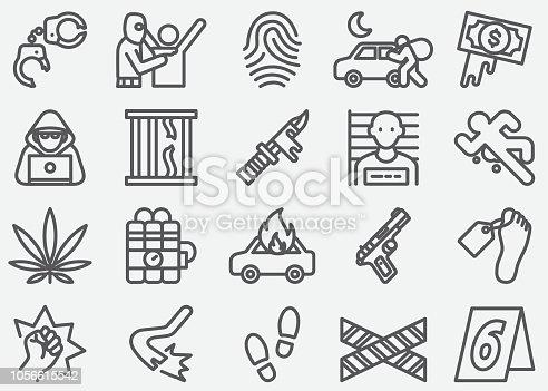 Crime Line Icons