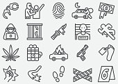 Crime Line Icons