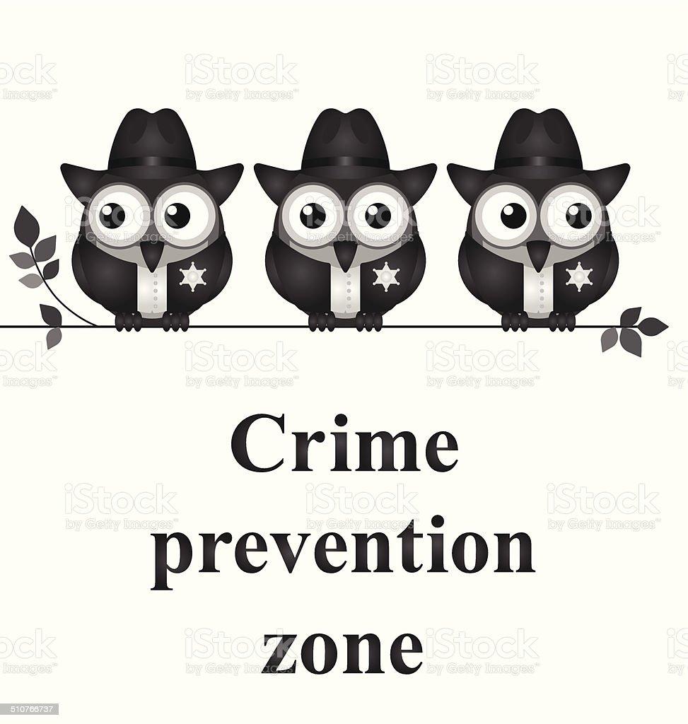 Crime Prevention Zone vector art illustration