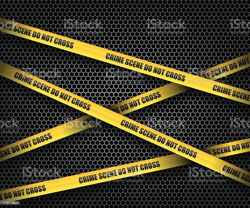 Crime scene do not cross vector art illustration