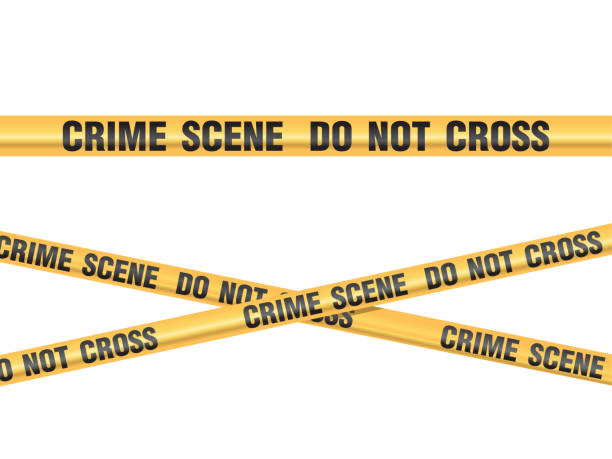 Crime Scene Do Not Cross vector Crime Scene Do Not Cross vector crime scene stock illustrations
