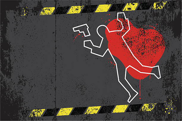 Crime scene graffiti Vector illustration of crime scene graffiti. All design elements are layered and grouped. Included files: Aics3 and Hi-res jpg. crime scene stock illustrations