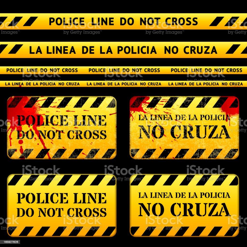 Crime Scene Police Tape royalty-free crime scene police tape stock vector art & more images of banner - sign