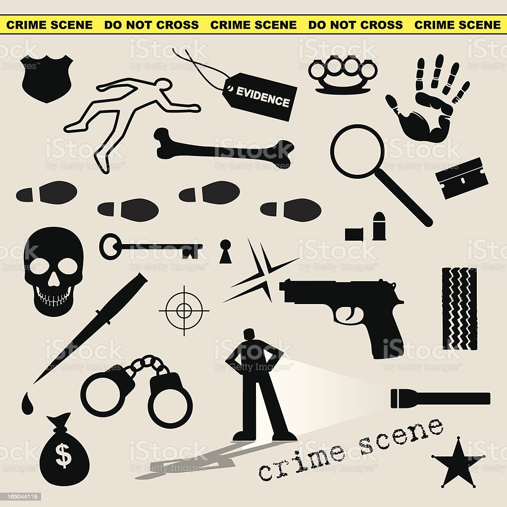 Crime Scene royalty-free stock vector art