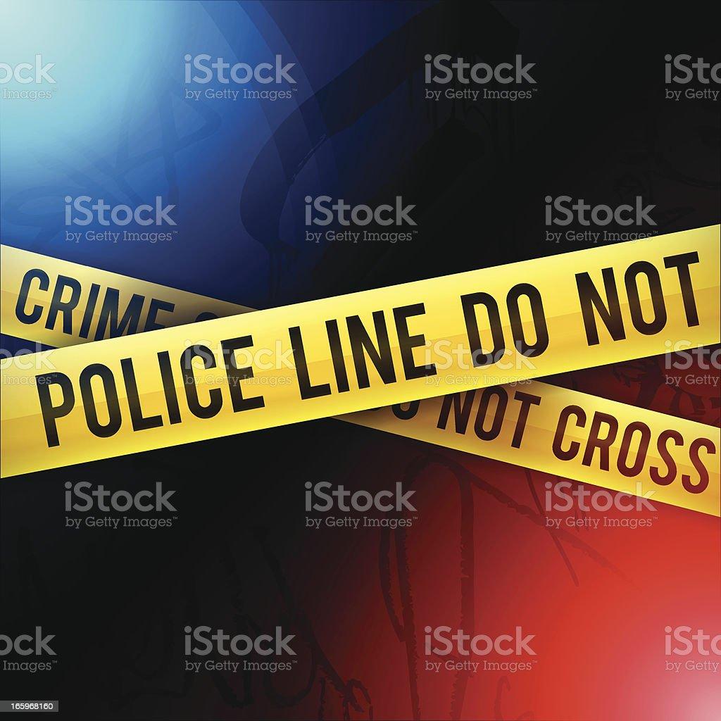 Crime Scene vector art illustration