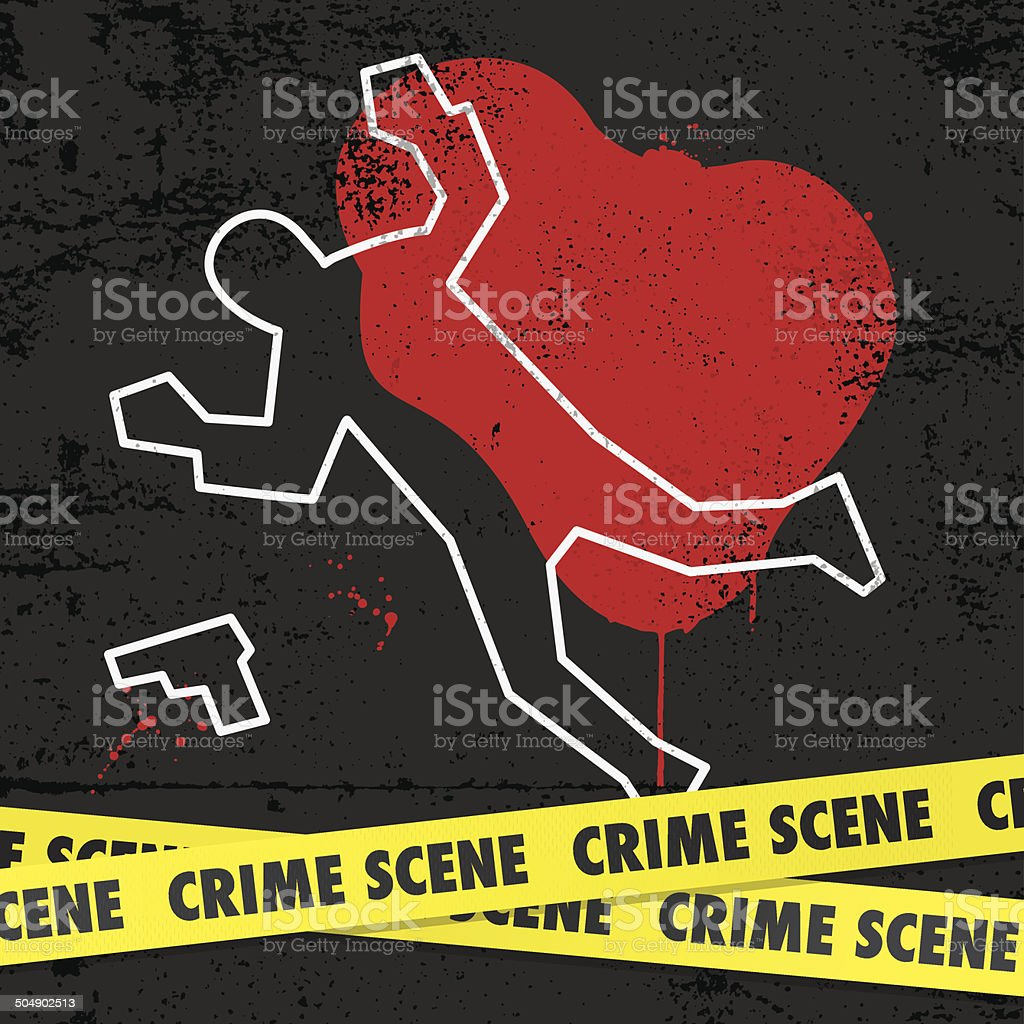 Crime scene vector art illustration