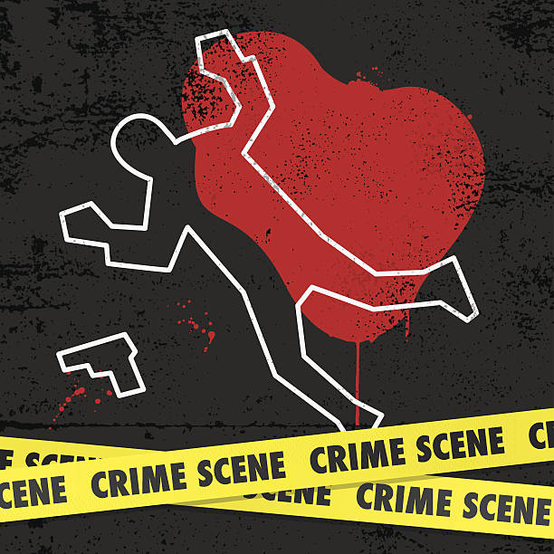 Crime scene EPS10. This illustration contains transparent and blending mode objects. crime scene stock illustrations