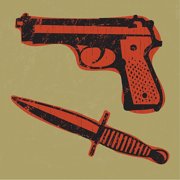 ilustraciones, imágenes clip art, dibujos animados e iconos de stock de escena del crimen armas - vaina