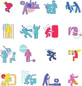 The vector files of crime icon set.