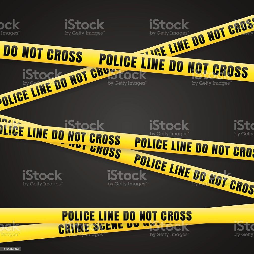 Criminal Scene Yellow Line vector art illustration