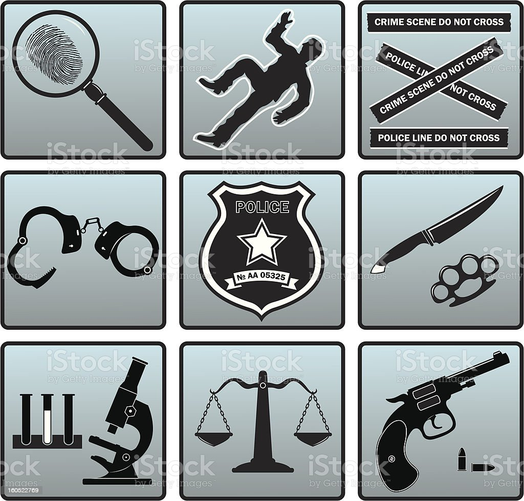 Criminal set royalty-free stock vector art
