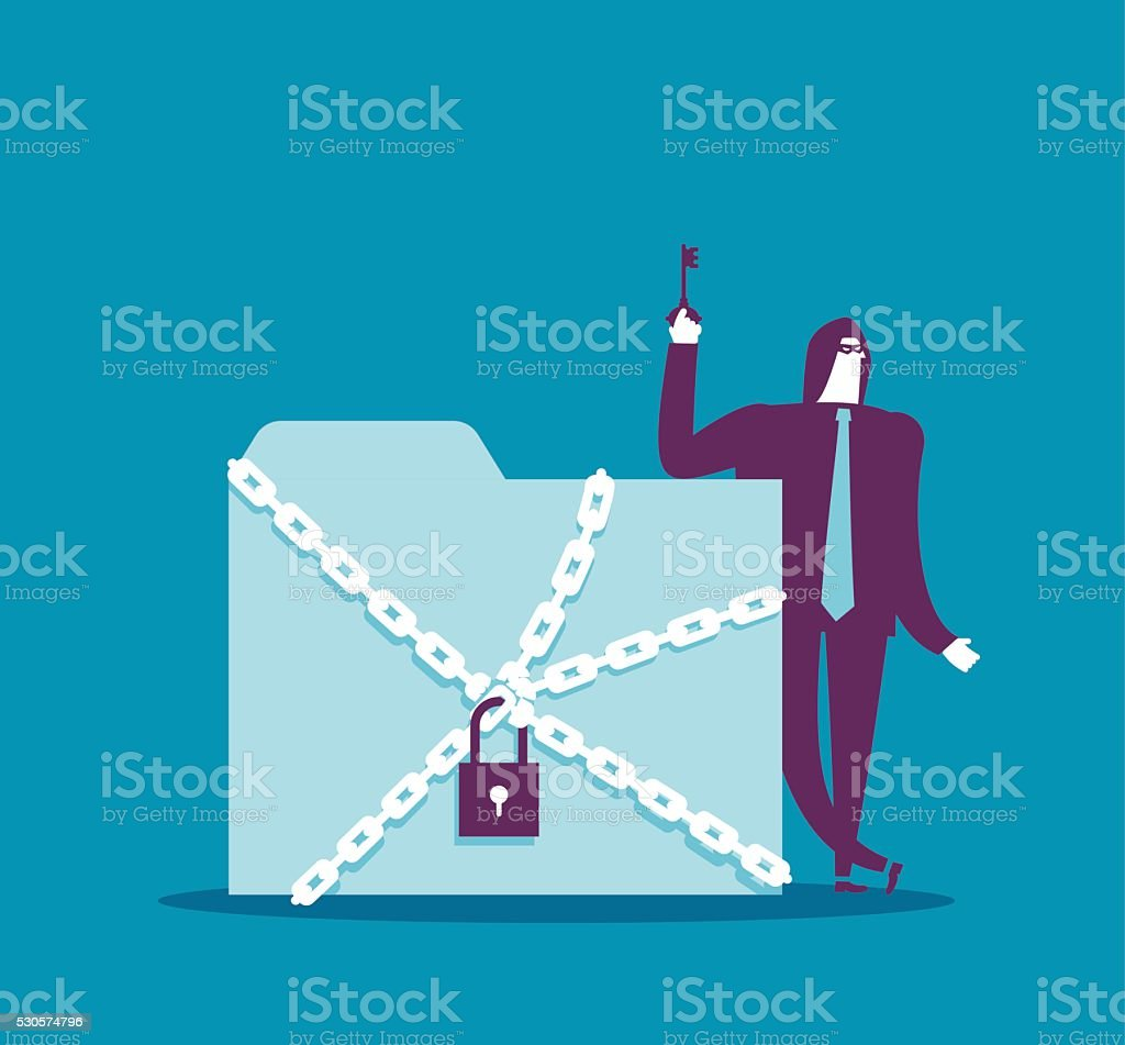 Criminal succeeds hacking theft. vector art illustration