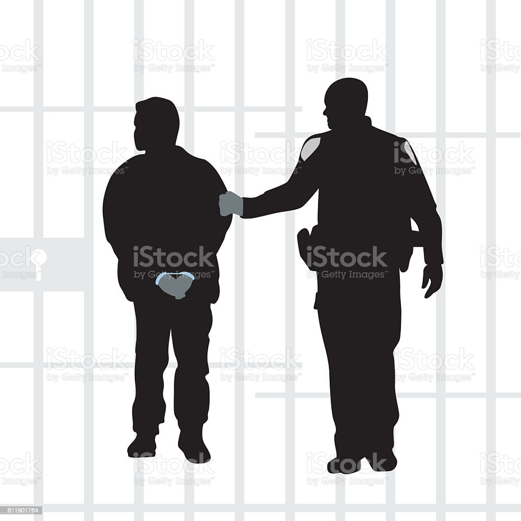 Criminals Do The Time vector art illustration
