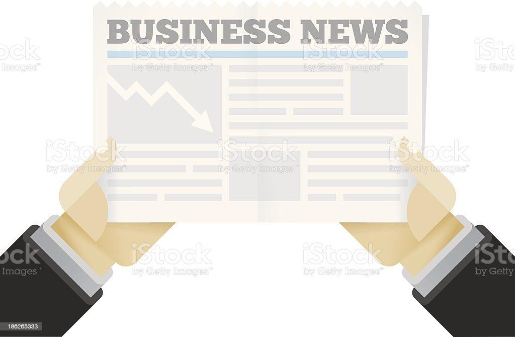 Crisis! Business News newspaper royalty-free stock vector art