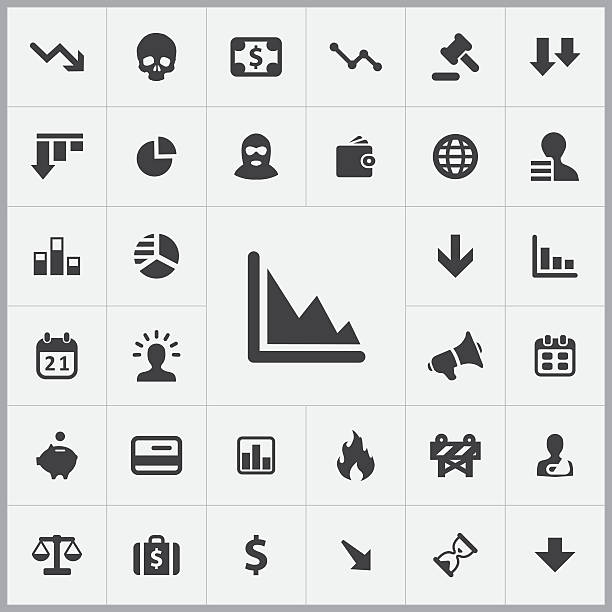 crisis icons universal set vector art illustration