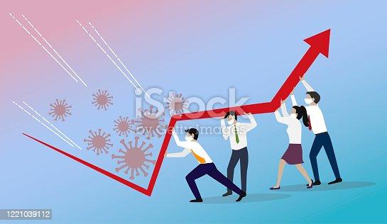 istock Crisis Management, Teamwork concept. 1221039112