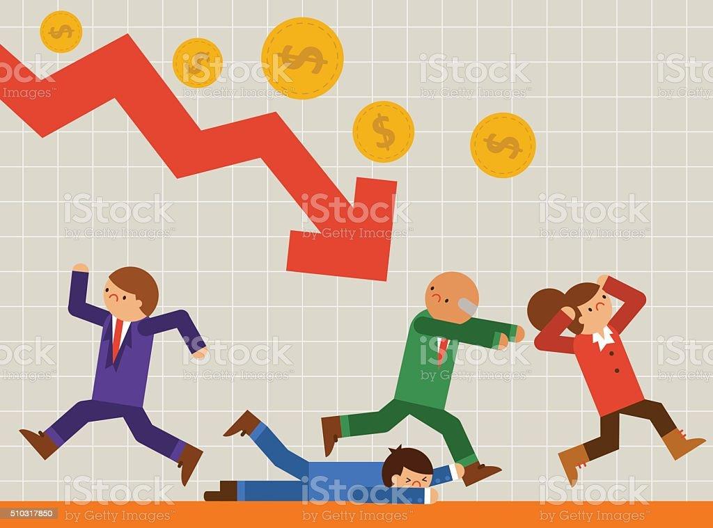 Crisis! vector art illustration