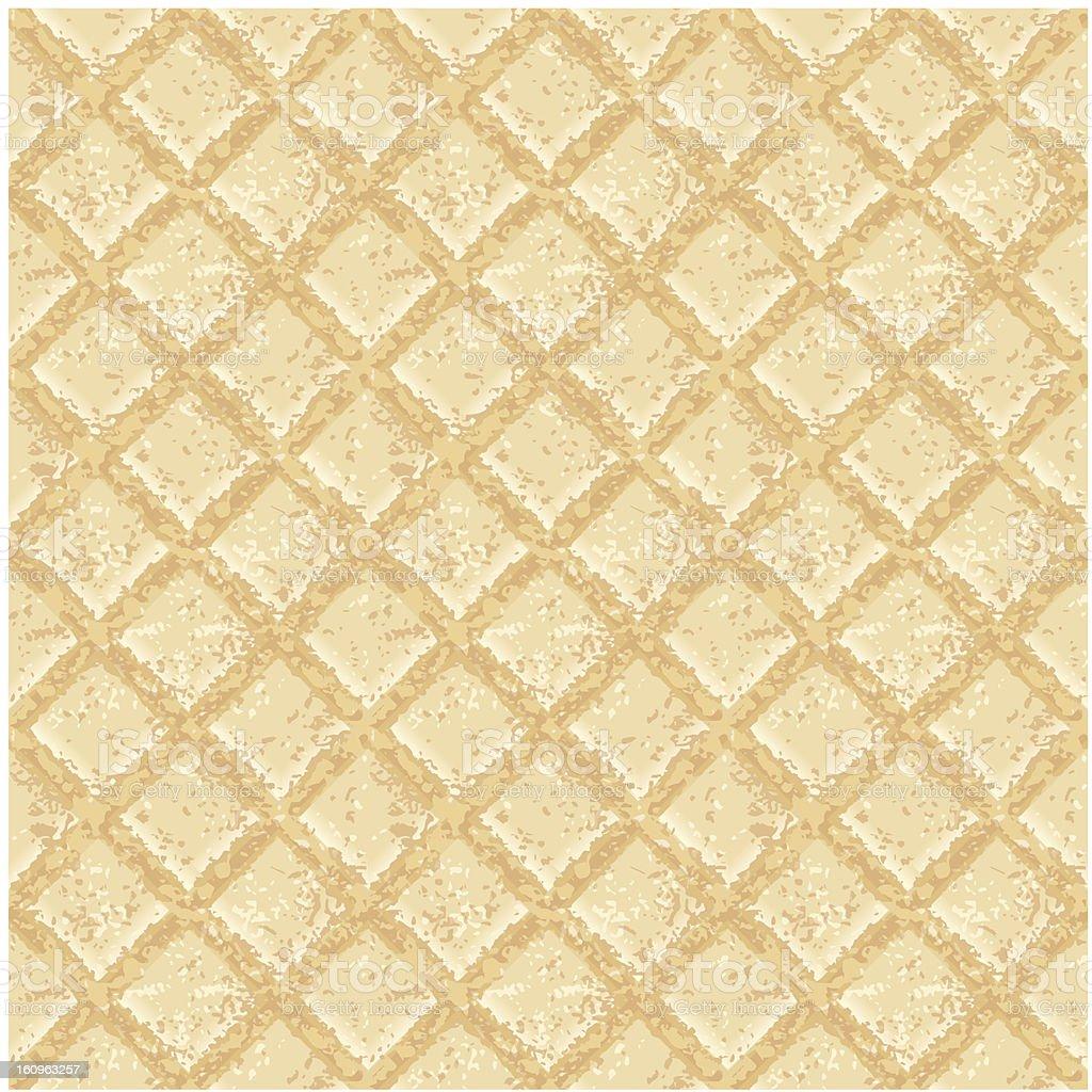 Crisp waffles pattern seamless texture vector art illustration