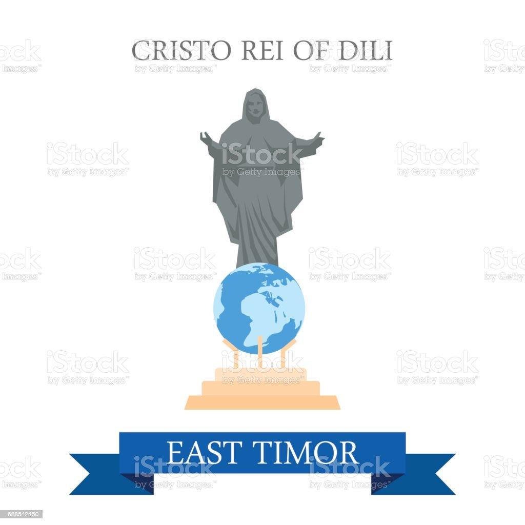 Cristo Rei De La Statue De Jésus De Dili Au Timor Oriental Dessin ...
