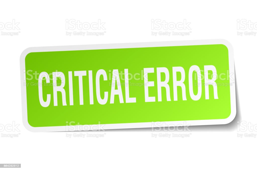 critical error square sticker on white royalty-free critical error square sticker on white stock vector art & more images of badge