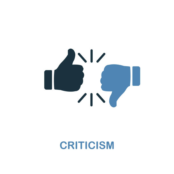 Criticism icon. Two colors premium design from management icons collection. Pixel perfect simple pictogram criticism icon. UX and UI. Criticism icon. Two colors premium design from management icons collection. Pixel perfect simple pictogram criticism icon. UX and UI usage. critic stock illustrations