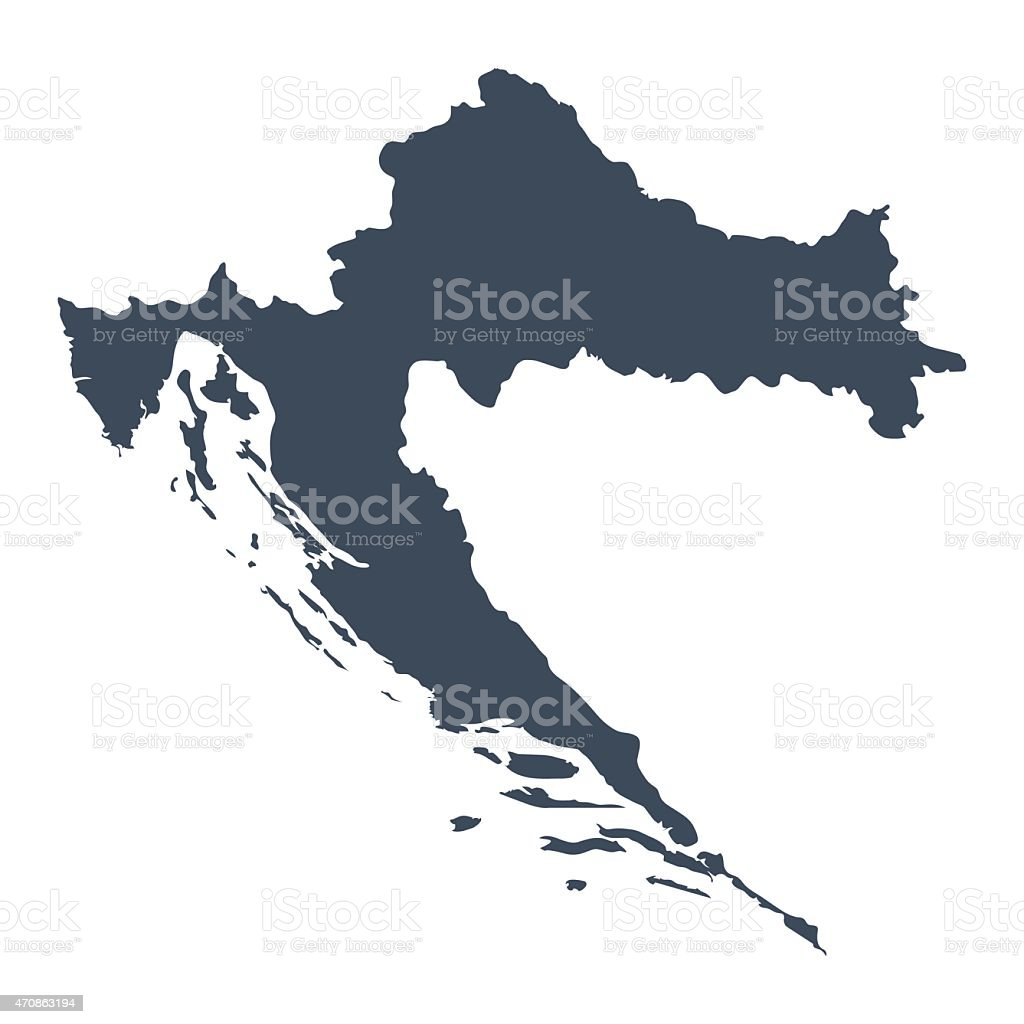Croatia country map vector art illustration