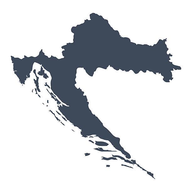 Kroatien Land Karte – Vektorgrafik