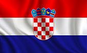 Croatia flag background