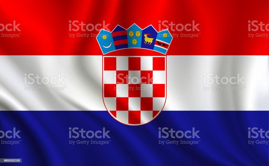 Fondo de bandera de Croacia - ilustración de arte vectorial