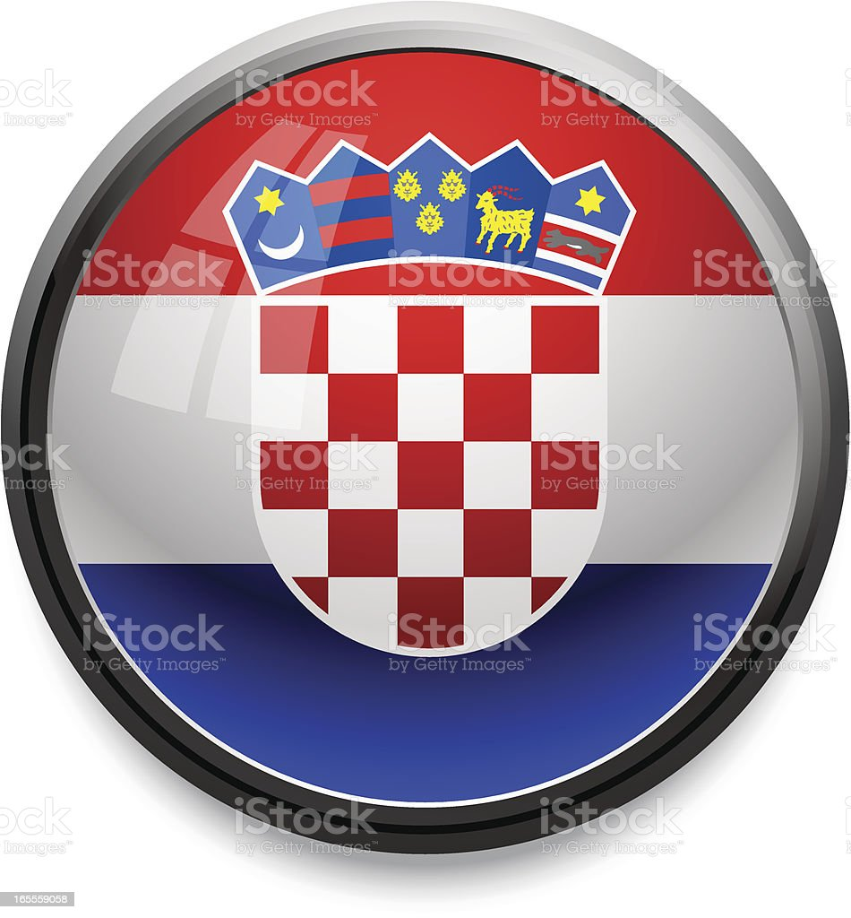 Croatia - flag icon royalty-free stock vector art