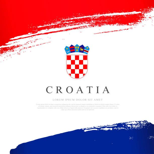 Kroatien Flagge. Vektordarstellung auf weißem Hintergrund. – Vektorgrafik