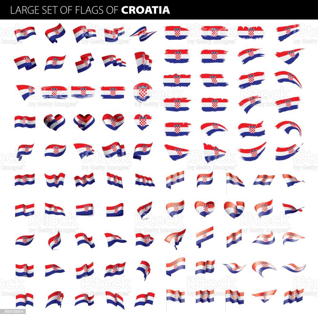 Bandera de Croacia, ilustración vectorial - ilustración de arte vectorial